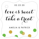 Champagne fancy square tags