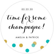 Champagne large circle labels