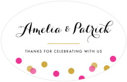 Champagne large oval labels