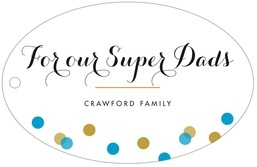 Champagne wide oval hang tags