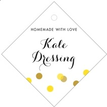 Champagne diamond hang tags