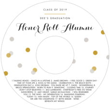 Champagne Cd Label In Stone