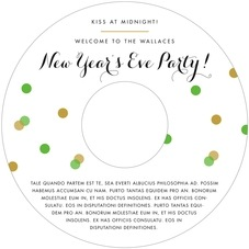 Champagne holiday CD/DVD labels