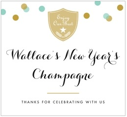 Champagne large rectangle labels