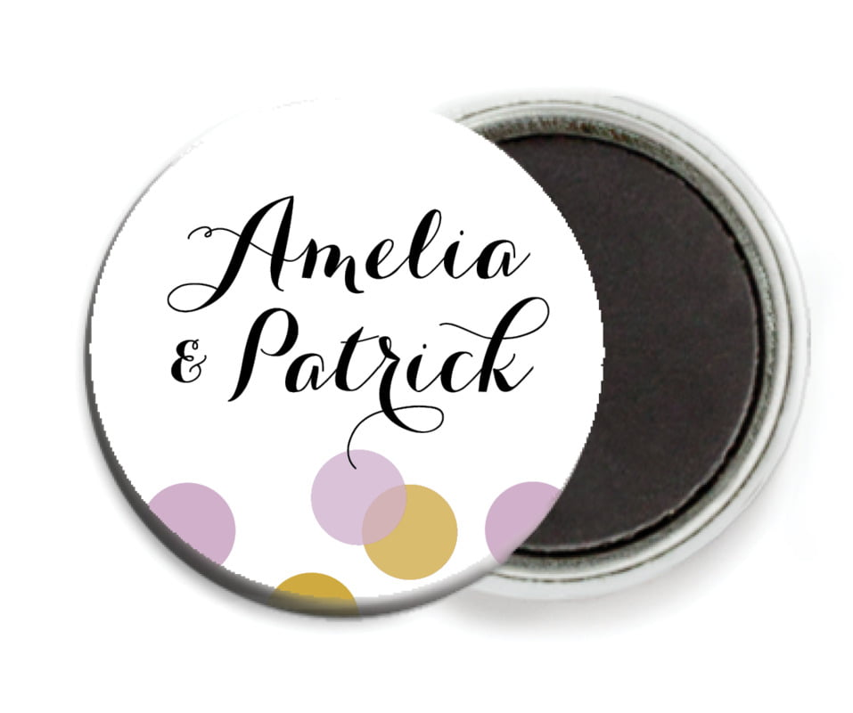 custom button magnets - lilac - champagne (set of 6)