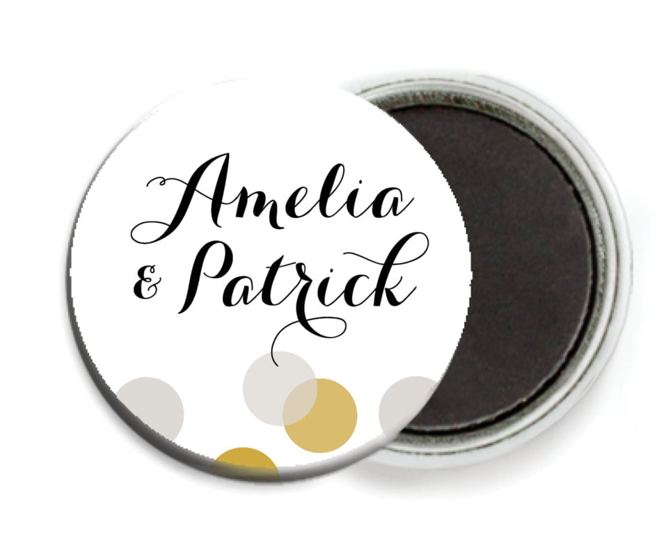 custom button magnets - stone - champagne (set of 6)