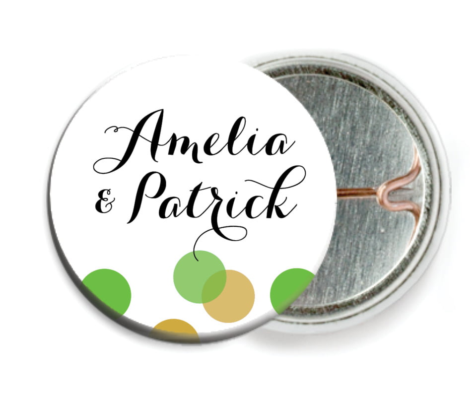 custom pin back buttons - grass - champagne (set of 6)