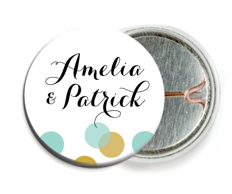 custom pin back buttons - aruba - champagne (set of 6)