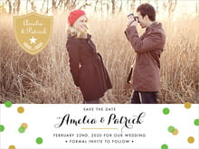 custom save-the-date cards - grass - champagne (set of 10)