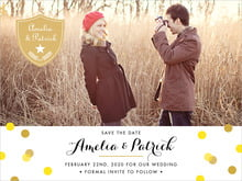 custom save-the-date cards - sunshine - champagne (set of 10)