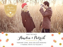 custom save-the-date cards - coral - champagne (set of 10)