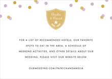 custom enclosure cards - lilac - champagne (set of 10)
