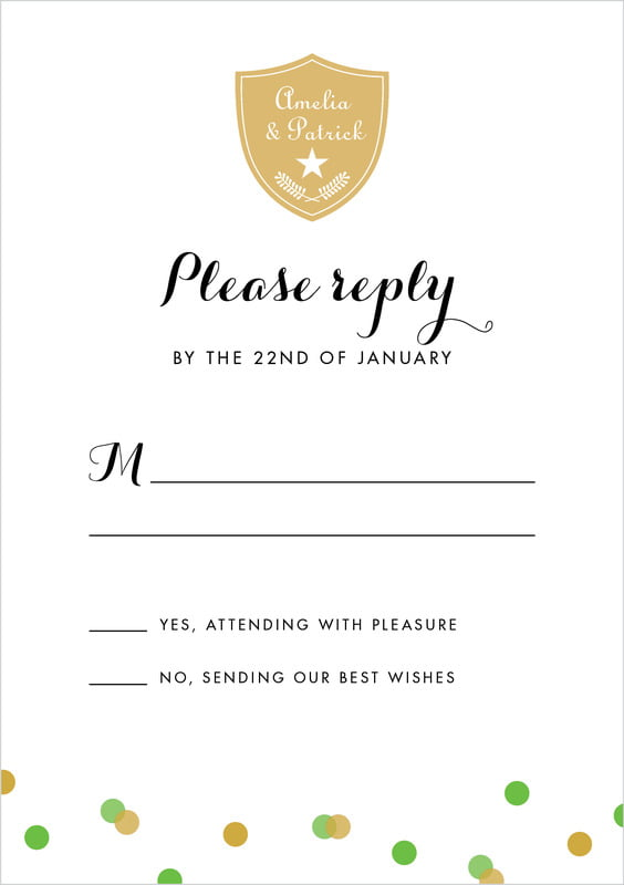 custom tall response cards - grass - champagne (set of 10)