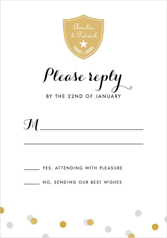 custom tall response cards - stone - champagne (set of 10)