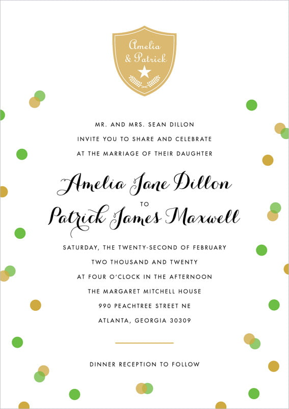 custom invitations - grass - champagne (set of 10)