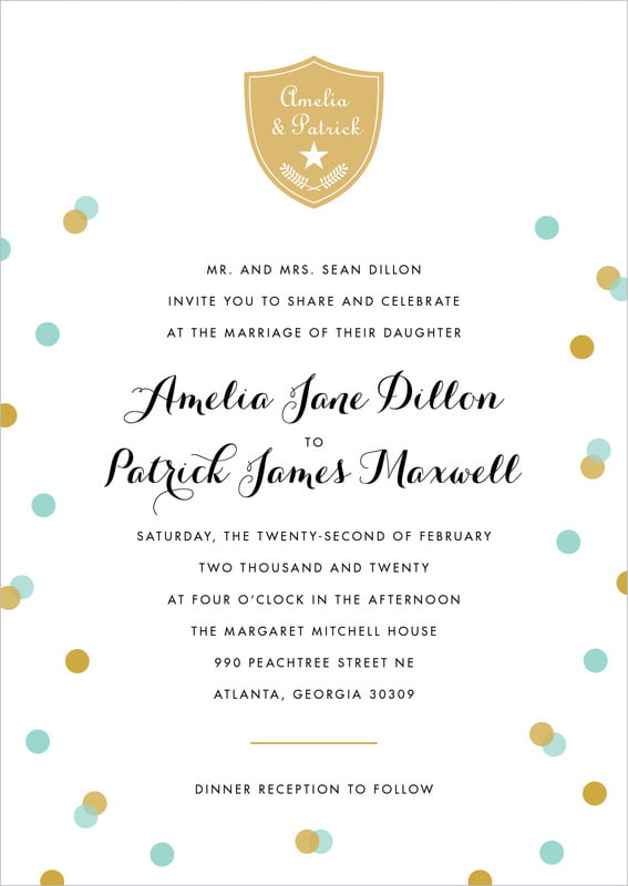 custom invitations - aruba - champagne (set of 10)