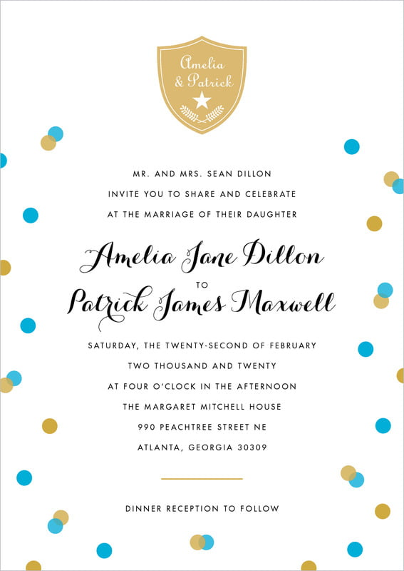 custom invitations - sky - champagne (set of 10)