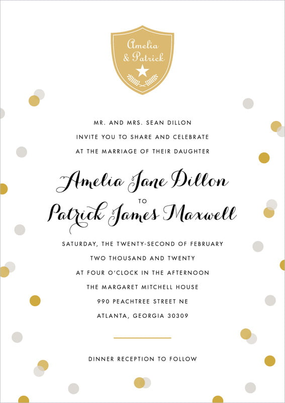 custom invitations - stone - champagne (set of 10)