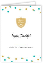 Champagne Folding Card In Turquoise