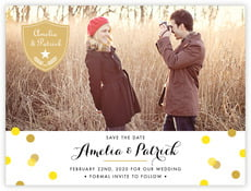 Champagne save the date cards