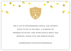 Champagne enclosure cards