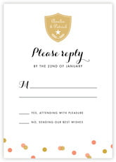 Champagne response cards