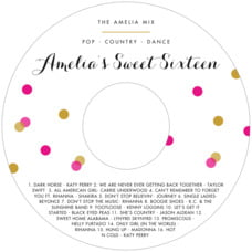 Champagne Cd Label In Bright Pink