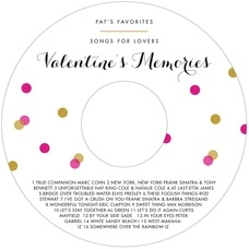 Champagne valentine's day CD/DVD labels