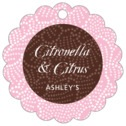 Cherry Blossom scallop hang tags
