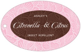 Cherry Blossom wide oval hang tags