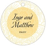 Cherry Blossom circle hang tags