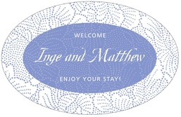 Cherry Blossom large oval labels