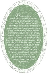 Cherry Blossom oval text labels