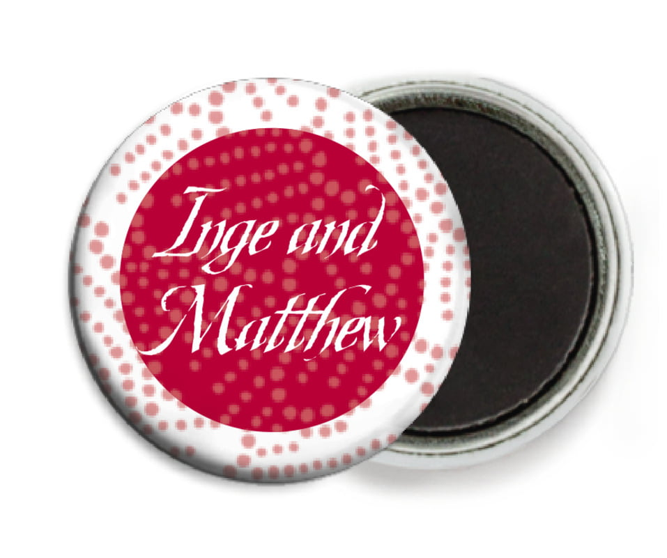 custom button magnets - deep red - cherry blossom (set of 6)