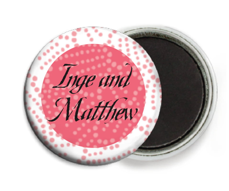 custom button magnets - grapefruit - cherry blossom (set of 6)