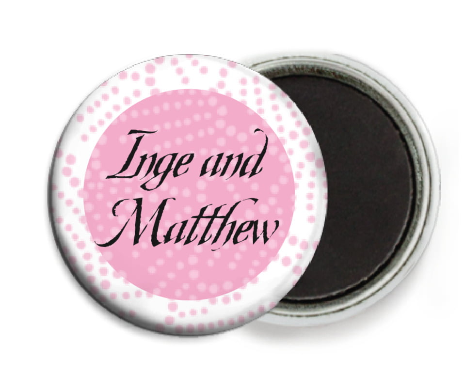 custom button magnets - pale pink - cherry blossom (set of 6)