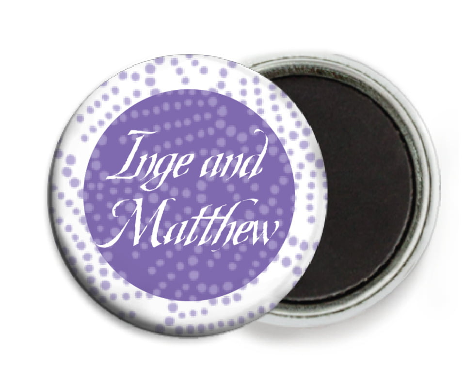 custom button magnets - lilac - cherry blossom (set of 6)