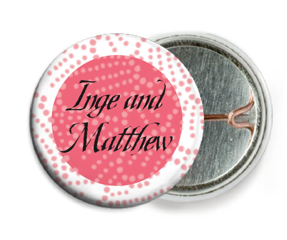 custom pin back buttons - grapefruit - cherry blossom (set of 6)