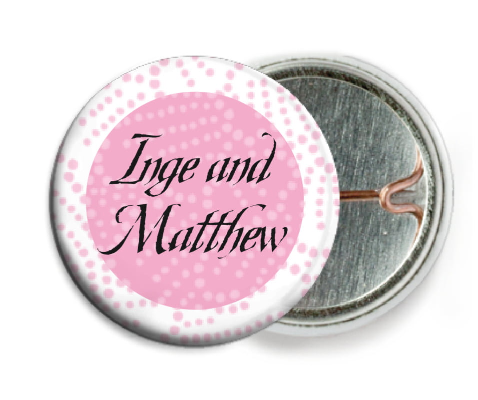custom pin back buttons - pale pink - cherry blossom (set of 6)