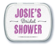 Casual Celebration bridal shower mint tins