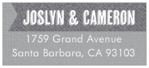 Casual Celebration designer address labels