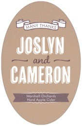 Casual Celebration tall oval labels
