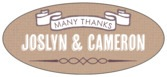 Casual Celebration oval labels