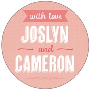 Casual Celebration large circle labels