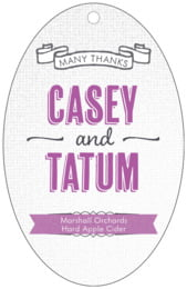 Casual Celebration large oval hang tags