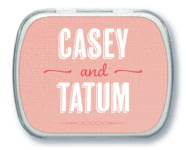 Casual Celebration wedding mint tins