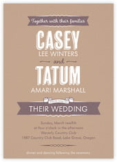 Casual Celebration invitations