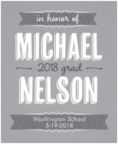 Casual Celebration graduation labels