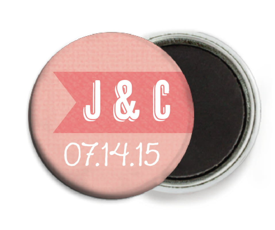 custom button magnets - grapefruit - casual celebration (set of 6)