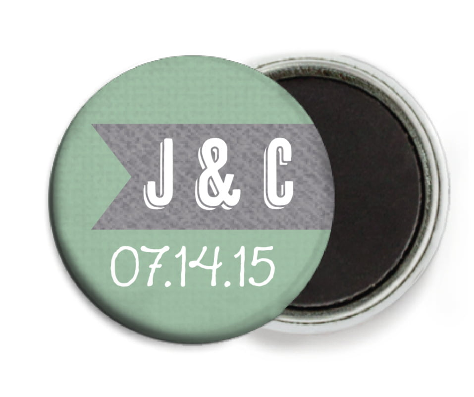 custom button magnets - mint - casual celebration (set of 6)